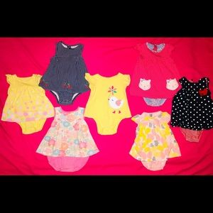 Carter's Baby Girl Onesie Lot size 12 months